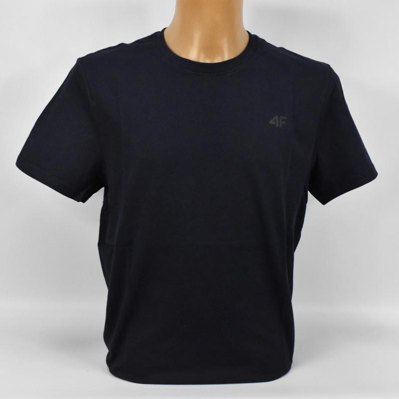 Koszulka męska 4F granatowa - NOSH4-TSM003 31S - 1