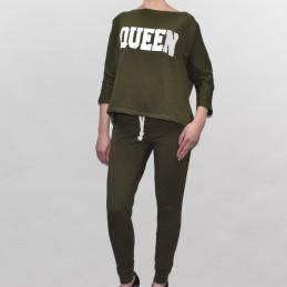 Komplet dresowy Queen Kesi khaki - 1