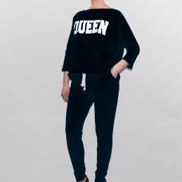 Komplet dresowy Queen Kesi czarny - 1