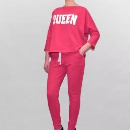 Komplet dresowy Queen Kesi różowy neon - 1