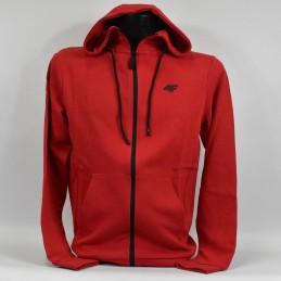 Bluza męska z kapturem w kolorze czerwonym 4F - NOSH4-BLM004 62S - 1