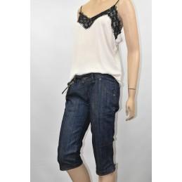 Spodnie damskie jeansowe 3/4 Rivi Style - 1