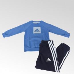 Dres dziecięce Adidas 3S Logo Jog FL - FM6389 - 1