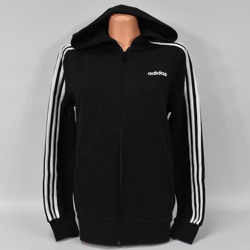 Bluza młodzieżowa Adidas YB E 3 Stripes FZ HD - DV1823 - 1