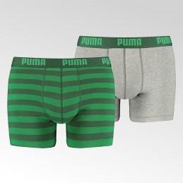 Bokserki męskie Puma Stripe 1515 Green - 521015001 327 010 - 1