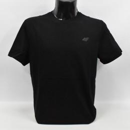 Koszulka męska 4F głęboka czerń - NOSH4-TSM003 20S - 1
