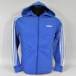 Bluza młodzieżowa z kapturem Adidas Essentials 3 Stripes Full Zip - FL9603 - 2
