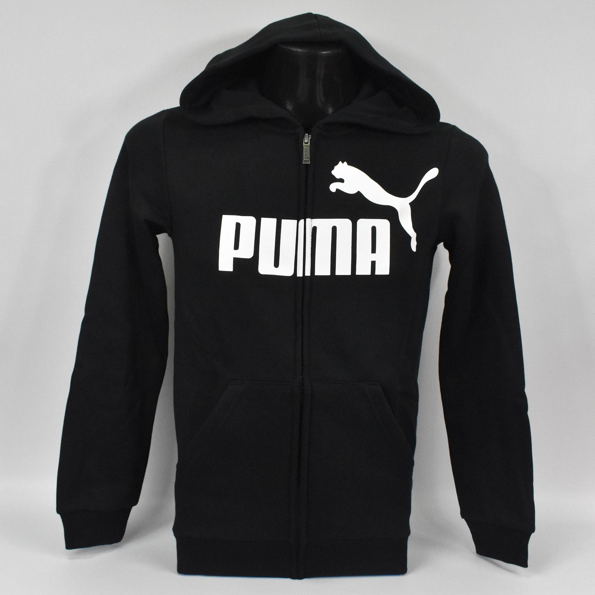 Bluza młodzieżowa z kapturem Puma ESS Hooded Jacket - 852102 01 - 1