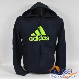 Bluza męska z kapturem Adidas Must Haves FZ Hoodie - GE0645
