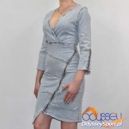 Stylowa sukienka jeansowa Kesi - 5676