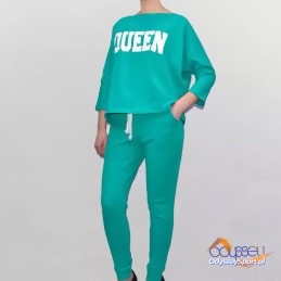 Komplet dresowy Queen Kesi zielony