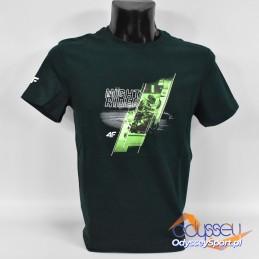 Koszulka męska 4F ciemna zieleń - H4Z20-TSM013 40S