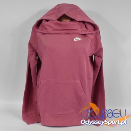 Bluza damska Nike Essentials Fnl Po Fle różowa - BV4116-614
