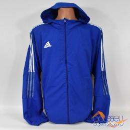 Prześciowa męska kurtka sportowa Adidas Windbreaker niebieska -