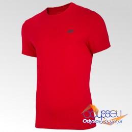 Koszulka męska 4F czerwona - NOSH4-TSM003 62S
