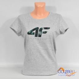 Koszulka damska 4F szara - H4L21-TSD030 27M