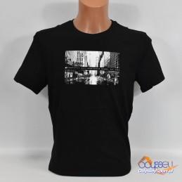 Koszulka męska 4F głęboka czerń - H4L21-TSM025 20S