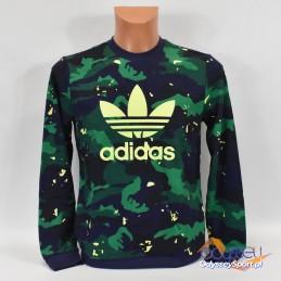 Bluza młodzieżowa Adidas Camo Print Crew - H20300